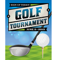 Golf Tournament Banner vector image vector image