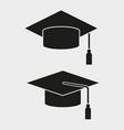 graduation cap icon design vector image vector image