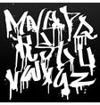 Graffiti font alphabet abc letters