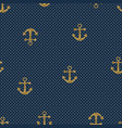 hand drawn anchor seamless pattern vector image vector image