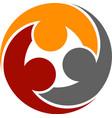 human community round symbol vector image