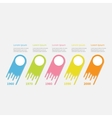 Infographic Five step Timeline Colorful comet vector image