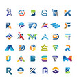 initial letter set vector image
