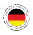 made in germany flag grunge icon vector image vector image