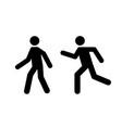 man walk and run pictograph icon pedestrian vector image vector image