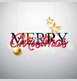 merry christmas with intertwined tube vector image vector image