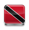 Metal icon of Trinidad and Tobago vector image vector image