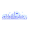 munich skyline germany city buildings vector image vector image