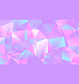 pastel colorful crystal low poly backdrop design vector image
