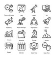 project management icons pack vector image vector image