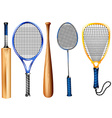 Rackets and bat vector image vector image