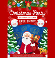 santa with christmas gifts winter holidays party vector image
