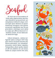 seafood fish and underwater animals restaurant vector image vector image