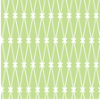 seamless background White grid on the green vector image vector image