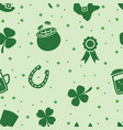 seamless pattern of irish st patricks day vector image