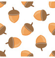 seamless pattern with acorns vector image vector image