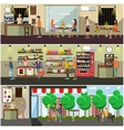 set of coffee concept design elements in vector image