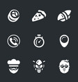 Set of fast food delivery icons