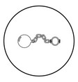 shackles with ball icon black color in circle vector image