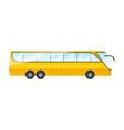 sticker big yellow sightseen bus on white vector image