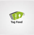 tag food logo icon element and template vector image