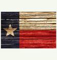 texas tx flag on rustic old wood wall vector image vector image