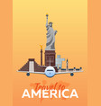 travel to america new york travel vector image vector image