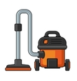 Vacuum Cleaner on White Background vector image