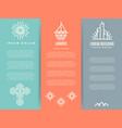 vintage minimal geometric brochure flyers template vector image vector image
