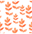 Watercolor red leaf seamless pattern vector image vector image