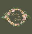 wedding horizontal floral invitation invite card vector image vector image