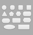 white buttons blank tags white clear badge vector image