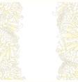 white chrysanthemum flower border vector image vector image