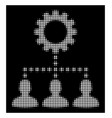 white halftone service staff icon vector image vector image