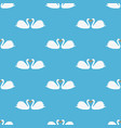 white swan seamless pattern vector image