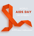 world aids day background with red ribbon vector image vector image