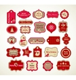 Xmas set - labels tags and decorative elements vector image