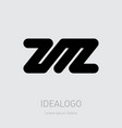 zm or mz - design element or icon initial vector image vector image