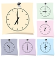 Sticker Clock vector image