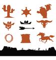 Cowboys set vector image