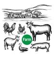 Hand Drawn Farm Set vector image