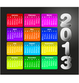 Colorful calendar for 2013 vector image