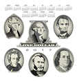 A 2017 calendar with Presidential oval bill elemen vector image vector image