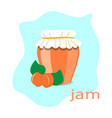 apricot jam vector image vector image