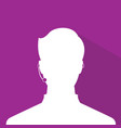 avatar head profile silhouette with shadow call vector image vector image