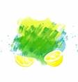 background with lemon vector image vector image