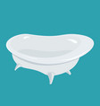 bathtub isolated bath on white background vector image
