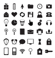Black icons set vector image vector image