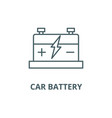 car battery line icon car battery outline vector image vector image