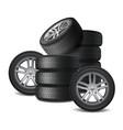 car wheels realistic design concept vector image vector image
